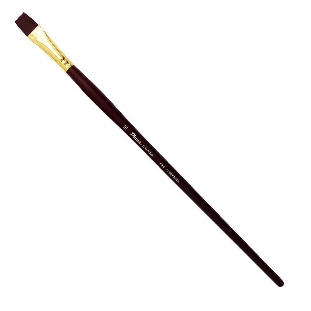 Купить Кисть синтетика №10 плоская Pinax Creative 684 жесткая, длинная ручка, Китай