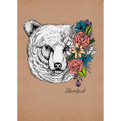Купить Скетчпад на евроспирали Весенний медведь (графика) А5 140х200 мм 40 л 120 г, Канц-Эксмо, Россия