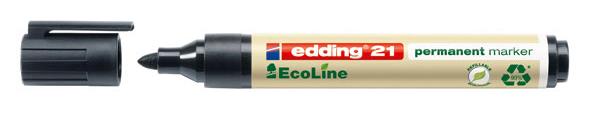 Купить Маркер перманентный Edding 21 EcoLine 1, 5-3 мм с круглым наконечником, черный, Германия