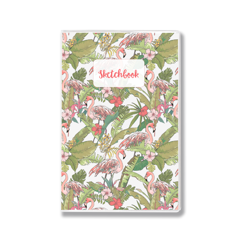 Купить Скетчбук lol&kek Handy Tropical 14х21 см 30 л 120 г, flamingo wifh flower, lol&kek, Россия