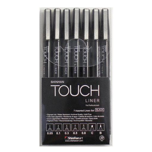 Купить Набор линеров Touch Liner 7 шт. 0, 05 мм-0, 8 мм C, B, ShinHan Art (Touch), Южная Корея