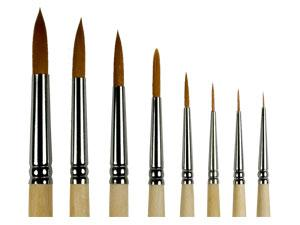 Купить Кисть синтетика №1 круглая ЦТИ длинная ручка, Россия