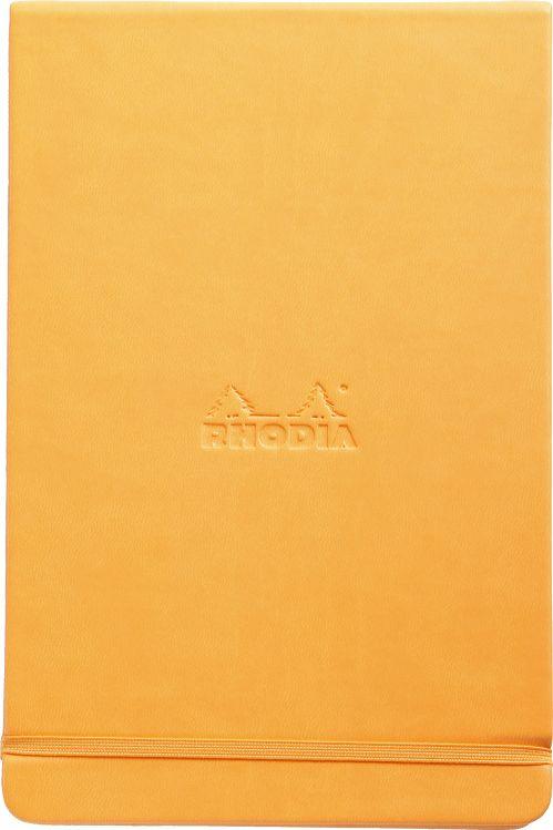 Купить Блокнот Rhodia Webnotebook А5 96 л с микроперфорацией 90 г, оранжевый, листы: слоновая кость, Франция
