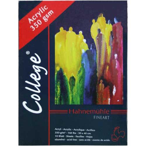 Купить Альбом-склейка для акрила Hahnemuhle College-Acrylic 36х48 см 10 л 350 г, HAHNEMUHLE FINEART, Германия