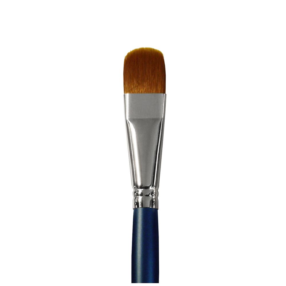 Купить Кисть синтетика №18 овальная Альбатрос Профи длинная ручка, Россия