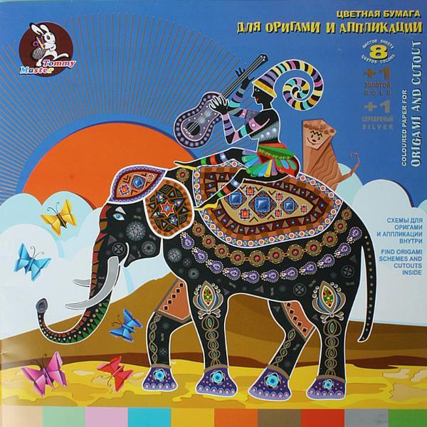 Купить Набор бумаги цветной Лилия Холдинг Африканское путешествие 30*30 см 10 цв, Россия