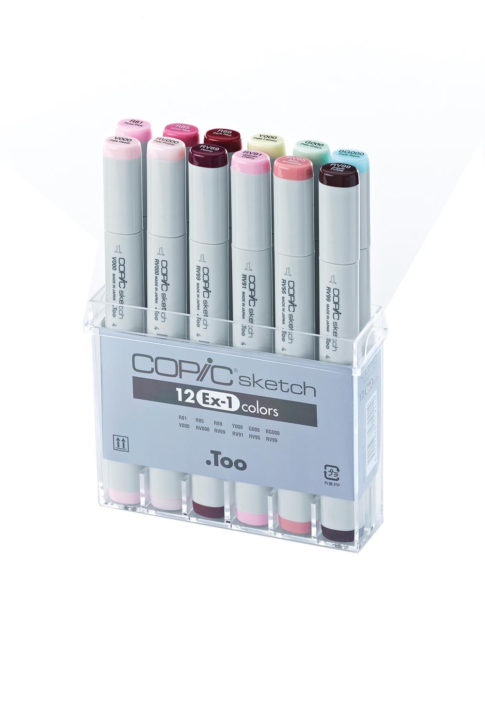 Купить Набор маркеров Copic Sketch EX-1 12 шт, Copic Too (Izumiya Co Inc), Япония
