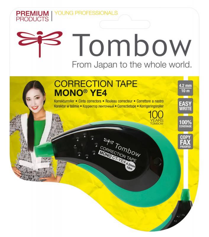 Купить Корректирующая лента Tombow MONO YE4 Correction tape 4, 2 мм*10 м, Япония