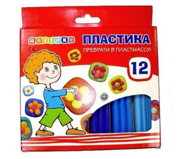 Купить Набор пластики Цветик 12 цв 240 г, Невская Палитра, Россия