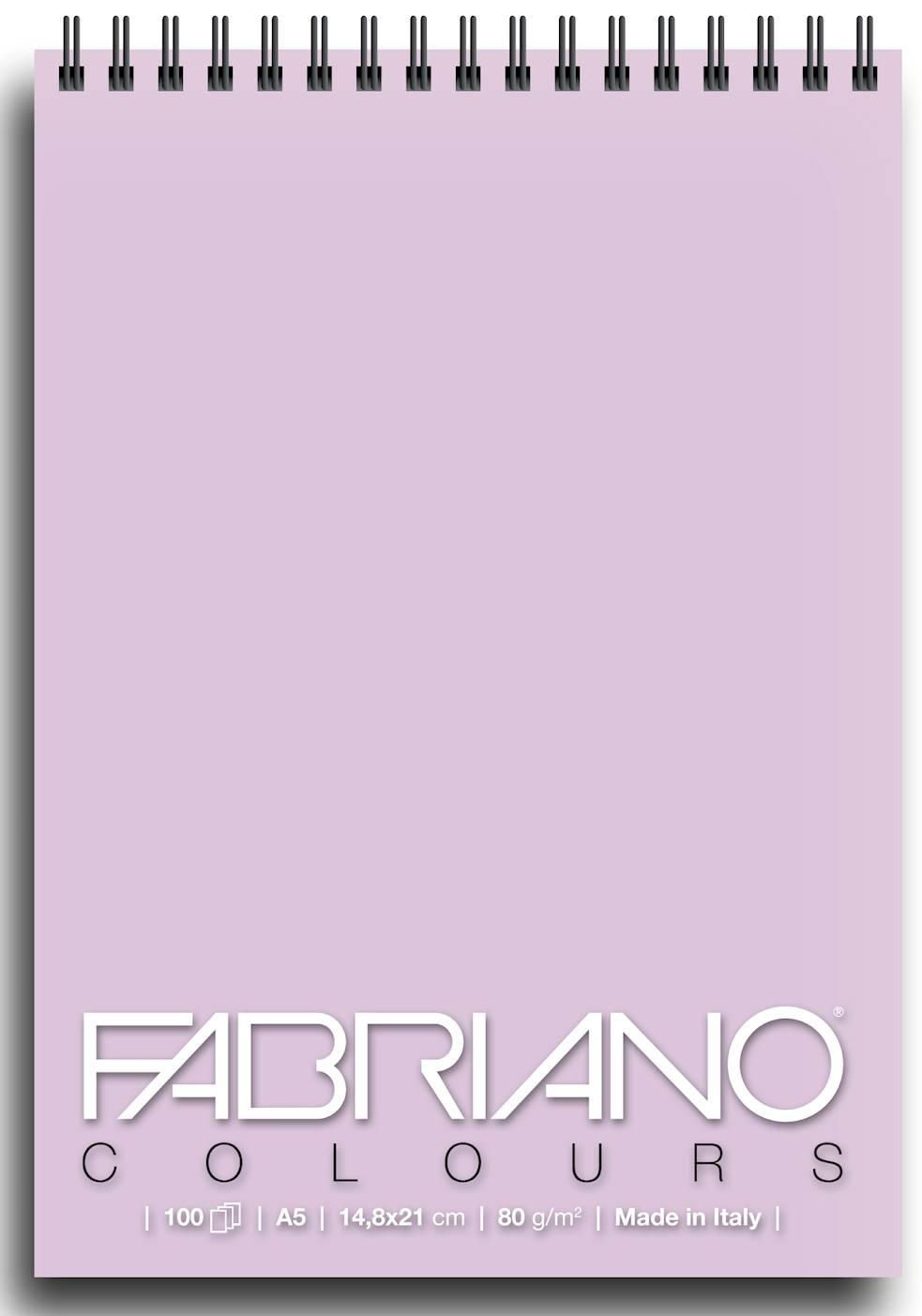 Альбом для графики на спирали Fabriano Writing Colors 148х21 см 100 л 80 г лаванда.