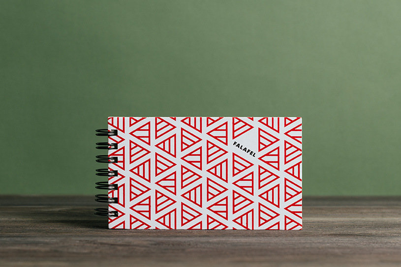 Купить Блокнот FALAFEL BOOKS на пружине Notepad red triangles, Россия