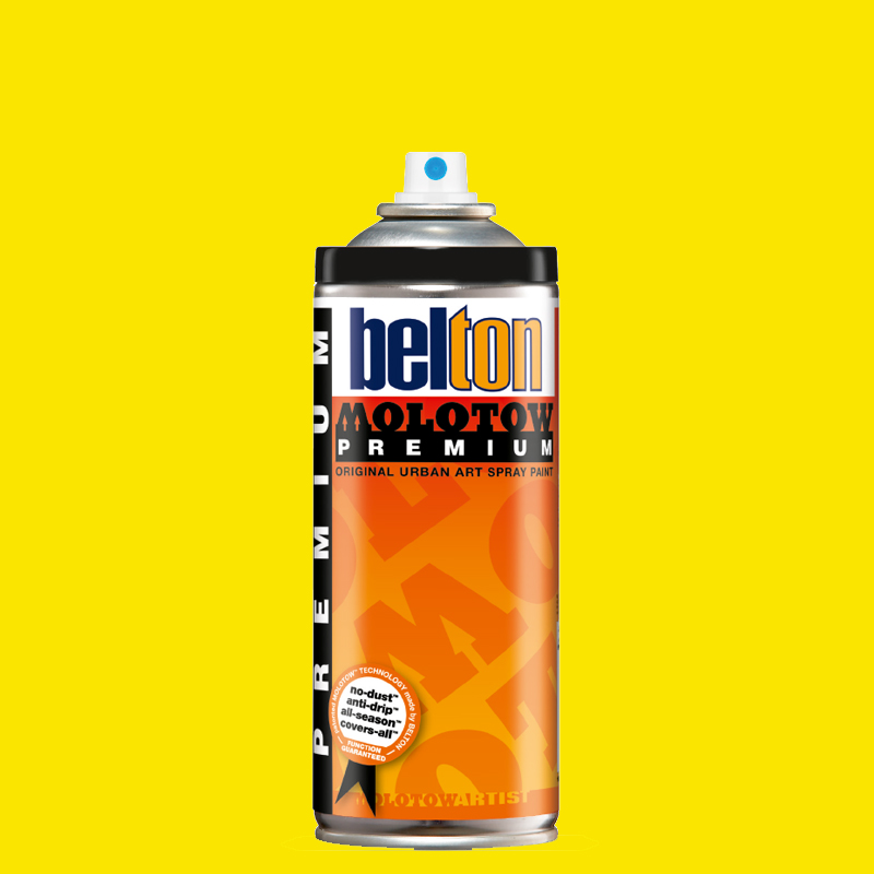 Купить Аэрозольная краска Molotow Premium belton 400 мл #232 NEON yellow, Германия