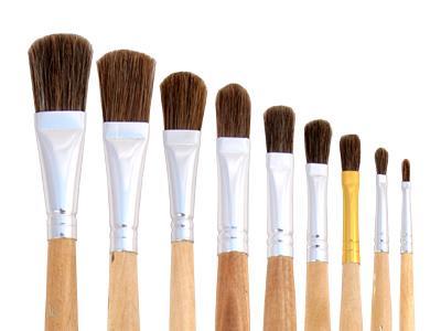 Купить Кисть ушной волос №10 плоская ЦТИ длинная ручка, Россия