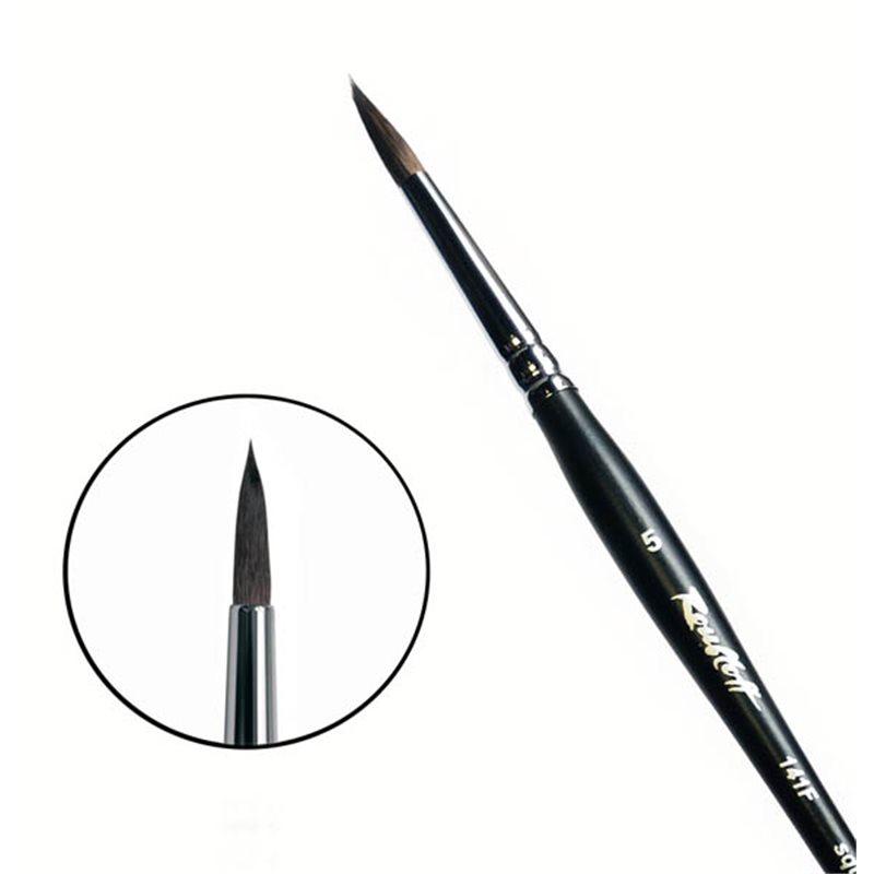 Купить Кисть белка №5 круглая Roubloff 141F короткая ручка, матовая, Россия