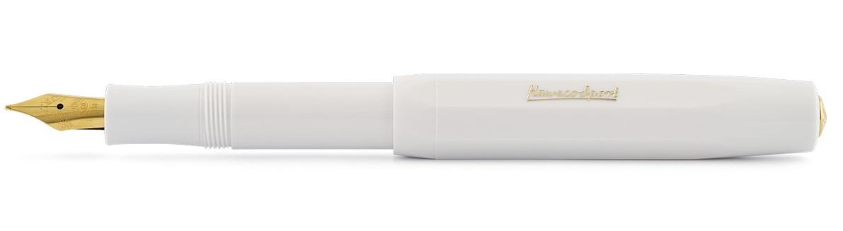 Купить Ручка перьевая Kaweco CLASSIC Sport M 0, 9 мм, чернила синие, корпус белый, Германия