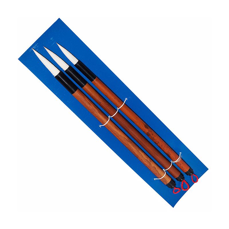 Купить Набор кистей для каллиграфии 3 шт волос смешанный, ручка бамбуковая, Китай