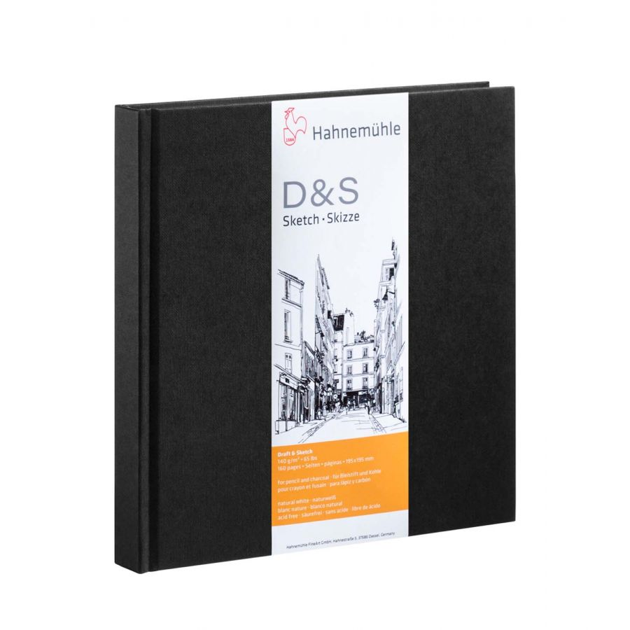 Купить Блокнот для эскизов Hahnemuhle D&S 19, 5х19, 5 см 80 л 140 г, твердая обложка, HAHNEMUHLE FINEART, Германия