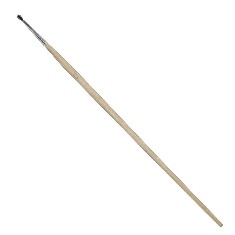Купить Кисть белка №0 круглая Ворс длинная ручка, Россия