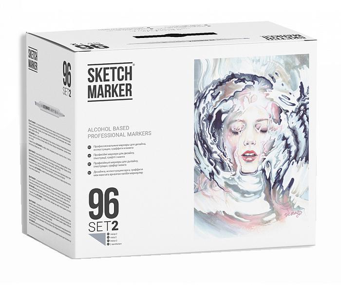 Купить Набор маркеров Sketchmarker 96 set 2 - (96 маркеров в пластиковом кейсе), Япония