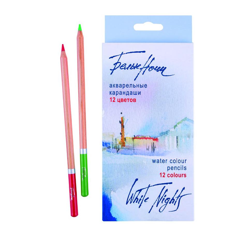 Купить Набор карандашей акварельных Белые Ночи 12 цв, в картонной коробке, Невская Палитра, Россия
