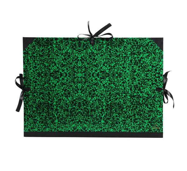 Купить Папка для хранения работ Canson Classic на 3 шнурках 28*38 см Зеленая, Франция