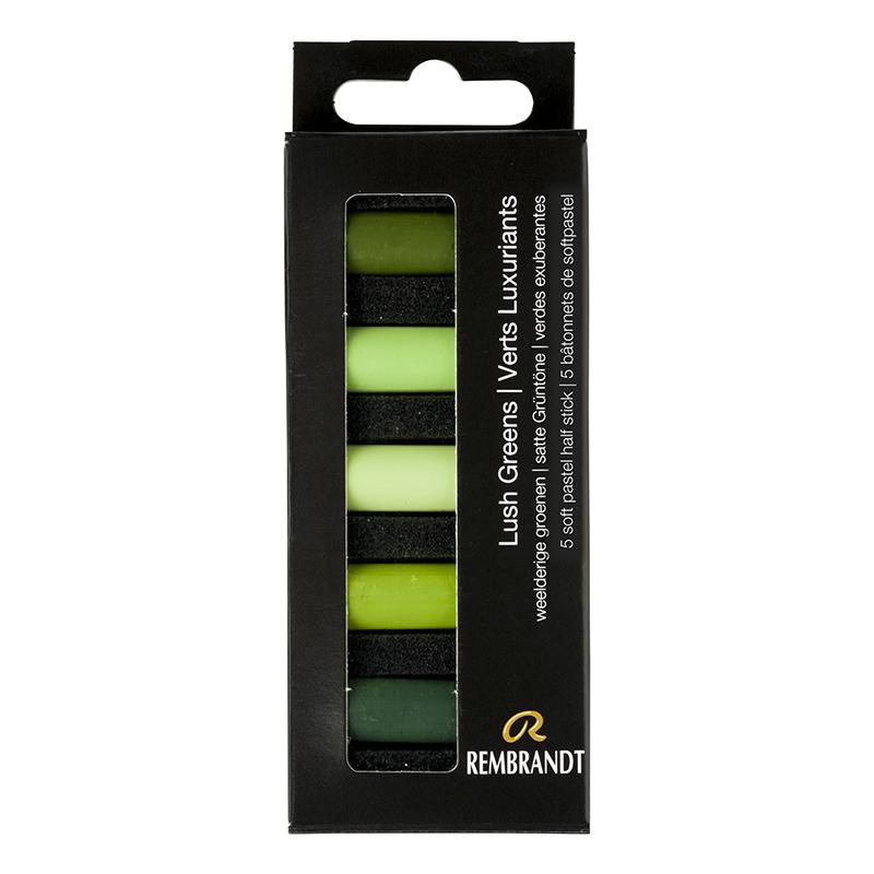 Купить Набор сухой пастели Talens Rembrandt Насыщенный зеленый 5 цв, в картонной коробке, Royal Talens