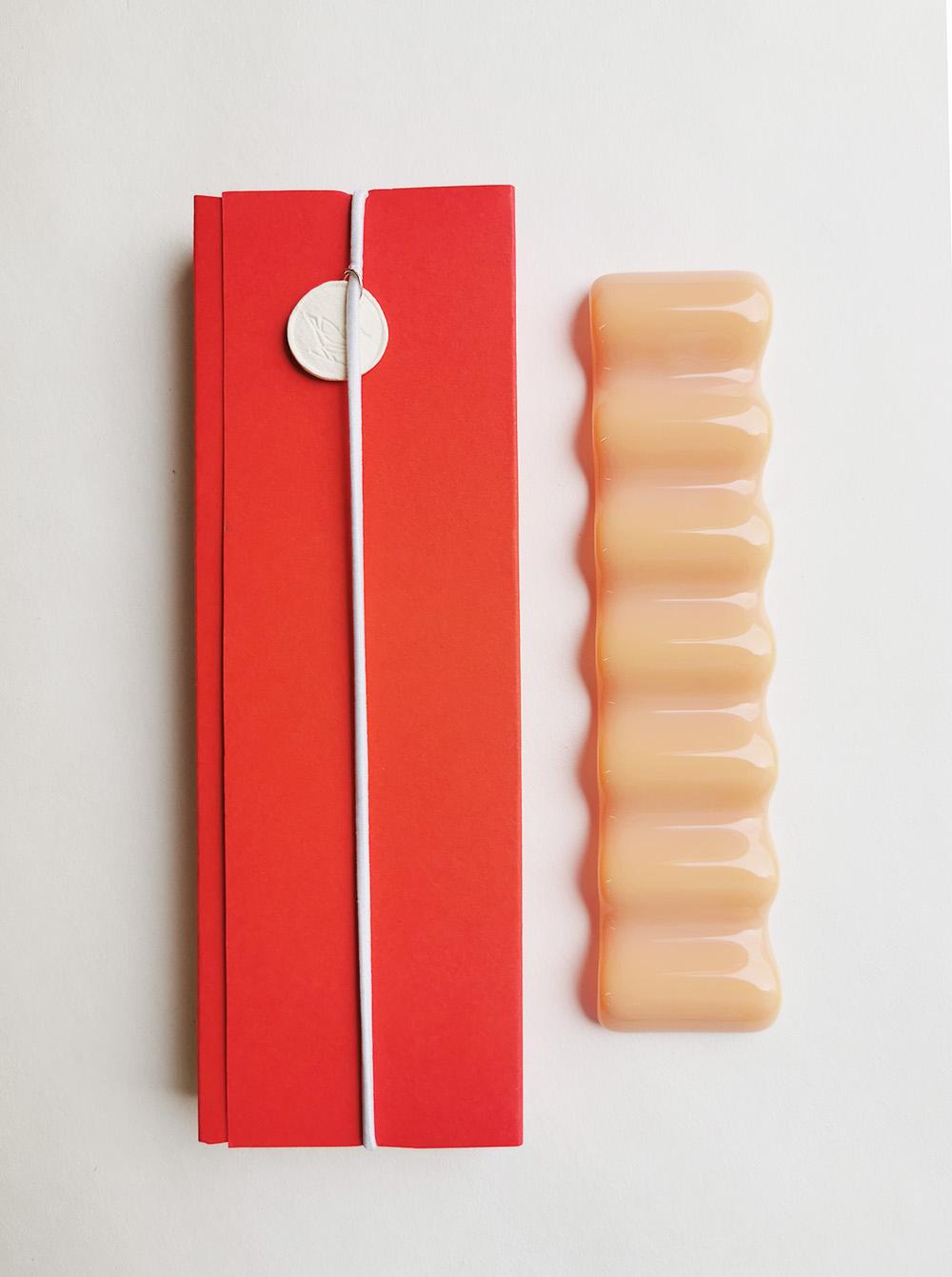 Купить Стеклянная подставка под инструменты Vasuri, цвет Персик, Vasuri Glass, Россия