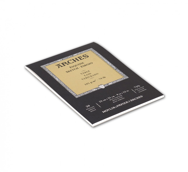 Купить Альбом-склейка для графики Canson Arches Esquisse 23x31 см 20 л 105 г, Франция