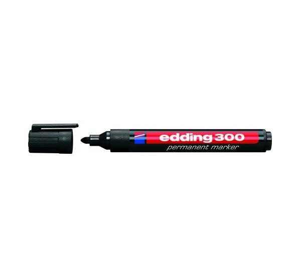 Купить Маркер перманентный Edding 300 1, 5-3 мм с круглым наконечником, черный, Германия