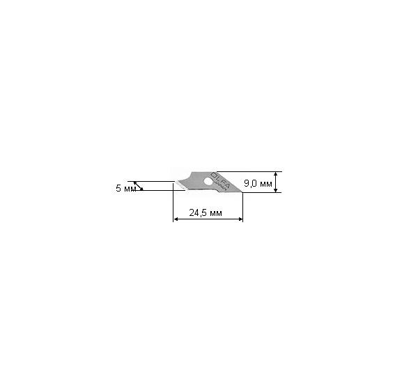 Купить Лезвия OLFA перовые для ножа CMP-1, 15 шт 5х24, 5х0, 5 мм, Япония