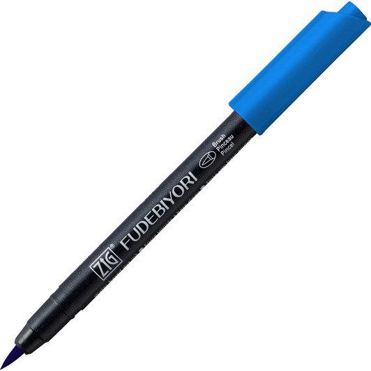Купить Ручка на водной основе, перо кисть ZIG Kuretake Fudebiyori Персидский голубой, Япония