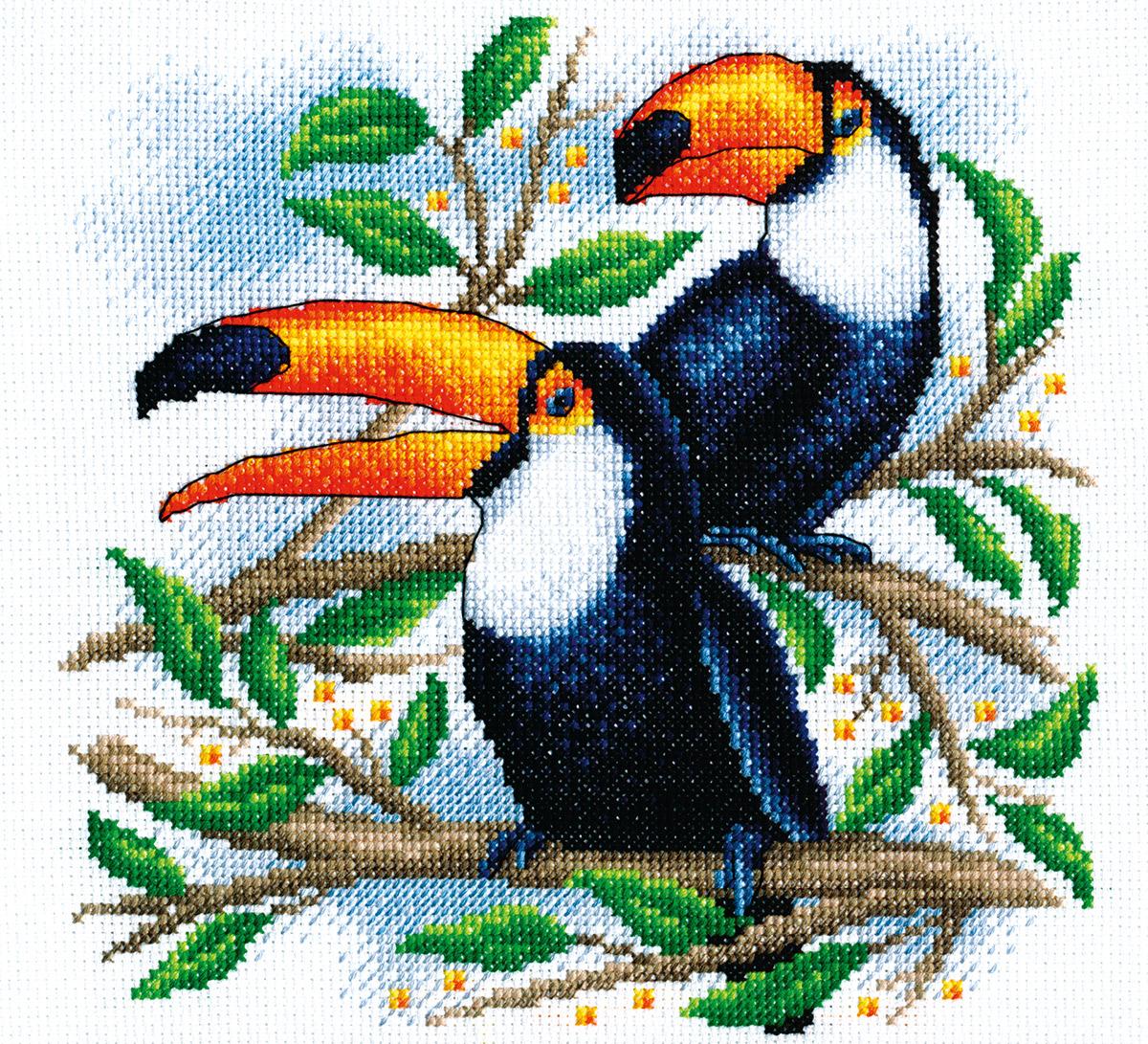 Купить Набор для вышивания PANNA Туканы , Gamma, Россия