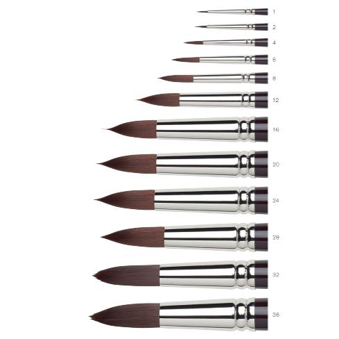 Купить Кисть синтетика №16 круглая Winsor&Newton GALERIA удлиненная выставка, длинная ручка, Winsor & Newton