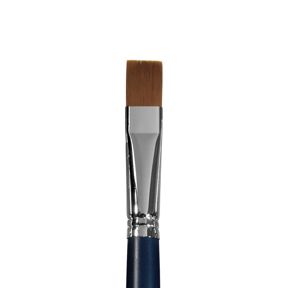 Купить Кисть синтетика №16 плоская Альбатрос Байкал длинная ручка, Россия
