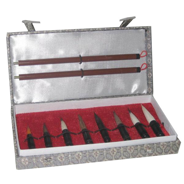 Купить Набор кистей для каллиграфии разборных (2 держателя, 8 кистей) в подарочной упаковке, Китай