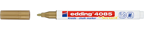Купить Маркер меловой Edding 4085 1-2 мм с круглым наконечником, золотой, Германия