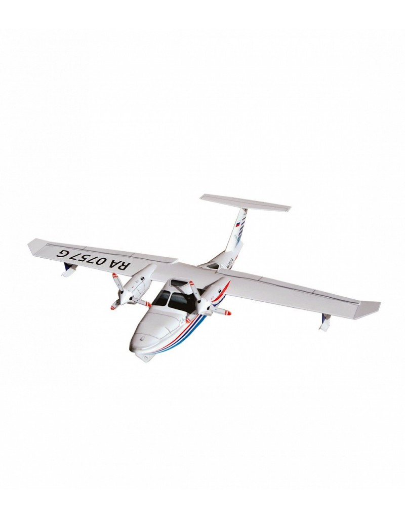 Купить Сборная модель из картона Авиация Многоцелевой самолет-амфибия LA-8 , Умная бумага, Россия