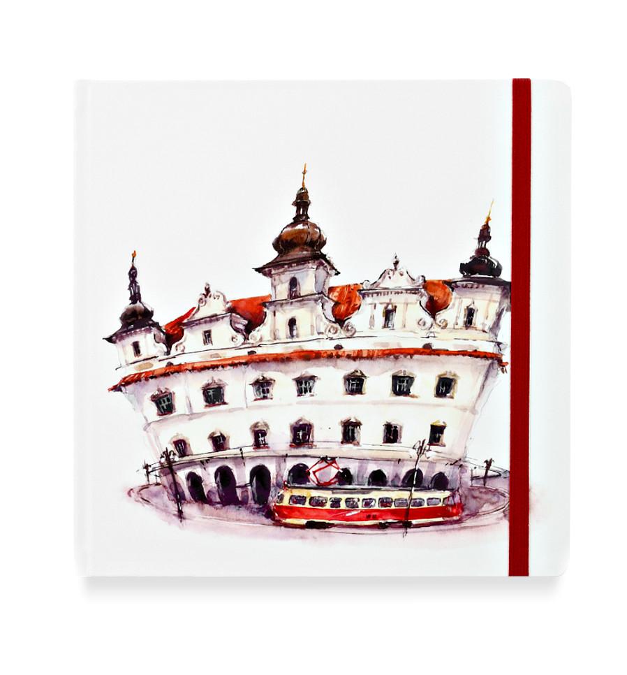 Купить Скетчбук акварельный Прага 20х20 см 32 л 100% хлопок, Sketch Story, Россия