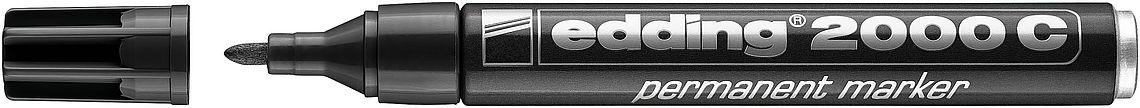 Купить Маркер перманентный Edding 2000C 1, 5-3 мм с круглым наконечником, черный, Германия