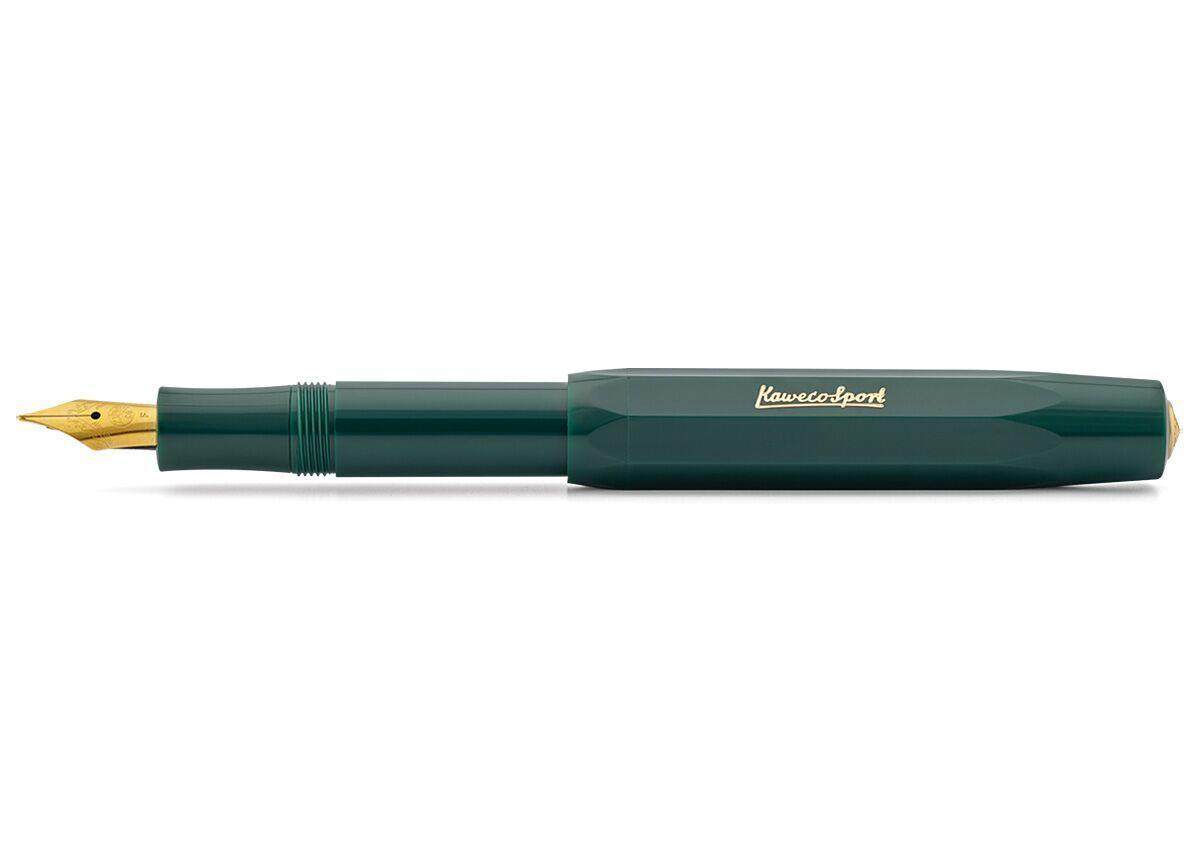 Купить Ручка перьевая Kaweco CLASSIC Sport F 0, 7 мм, чернила синие, корпус зеленый, Германия