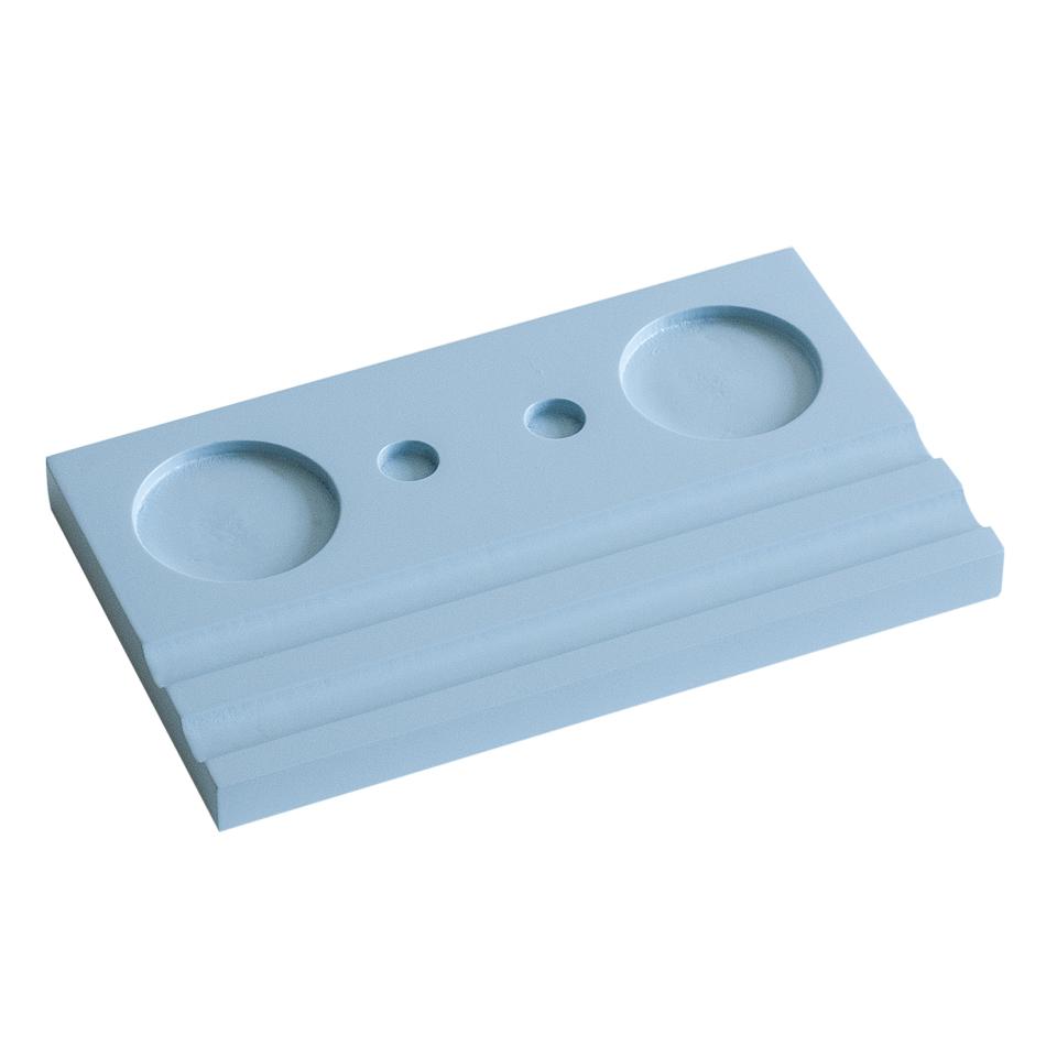 Подставка для чернильницы-непроливайки двойная, цвет голубой