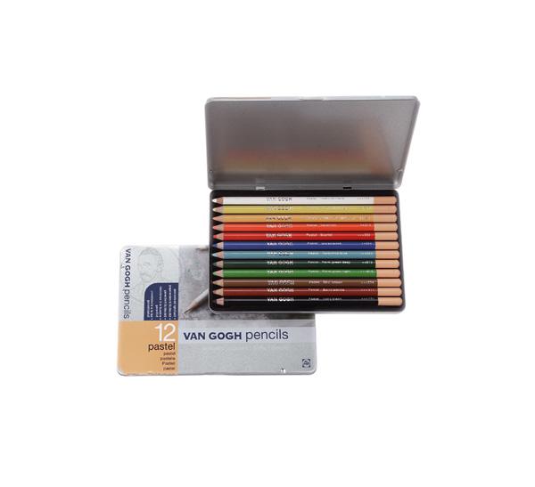 Купить Набор карандашей пастельных Talens Van Gogh 12 цв стартовый в метал кор, Royal Talens
