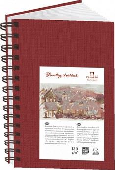 Купить Блокнот для эскизов Лилия Холдинг Travelling sketchbook А6 62 л 130 г Портрет гранатовый, Россия