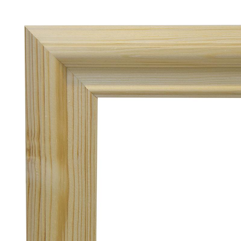 Рама 25х30 см деревянная некрашенная (ширина багета 3,5 см) фото