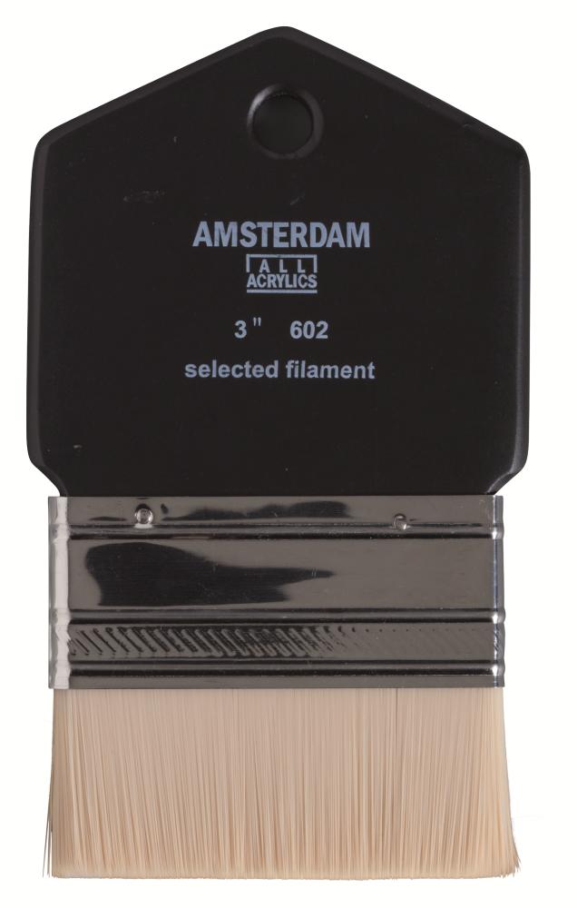 Купить Кисть синтетика №3 плоская Talens Amsterdam 602, Royal Talens