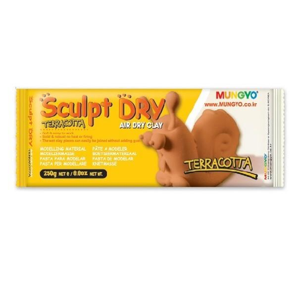 """Глина для моделирования Mungyo """"Sculpt Dry"""" 250 г террракотовая"""