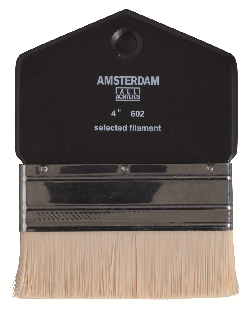 Купить Кисть синтетика №4 плоская Talens Amsterdam 602, Royal Talens