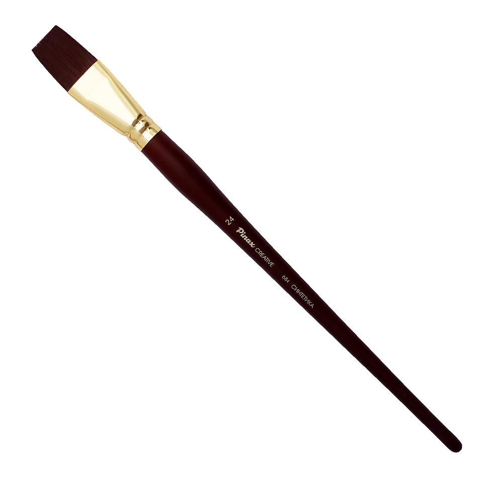 Купить Кисть синтетика плоская Pinax Creative 684 жесткая, длинная ручка, Китай