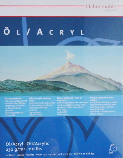 Купить Альбом-склейка для акрила и масла Hahnemuhle Ol/Acryl 30х40 см 10 л 230 г, HAHNEMUHLE FINEART, Германия