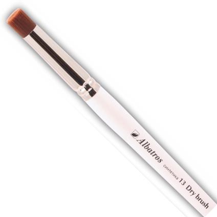 Купить Кисть синтетика №13 трафаретная Альбатрос Dry brush бронза, короткая ручка, Россия
